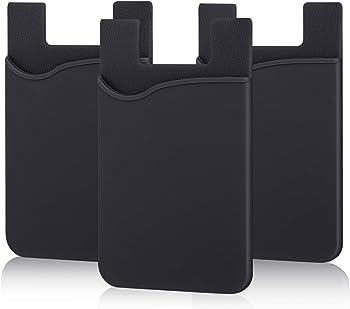 Pofesun Adhesive Ultra-Thin Stick Phone Wallet (Black)