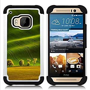 For HTC ONE M9 - summer field trees nature sun Dual Layer caso de Shell HUELGA Impacto pata de cabra con im??genes gr??ficas Steam - Funny Shop -