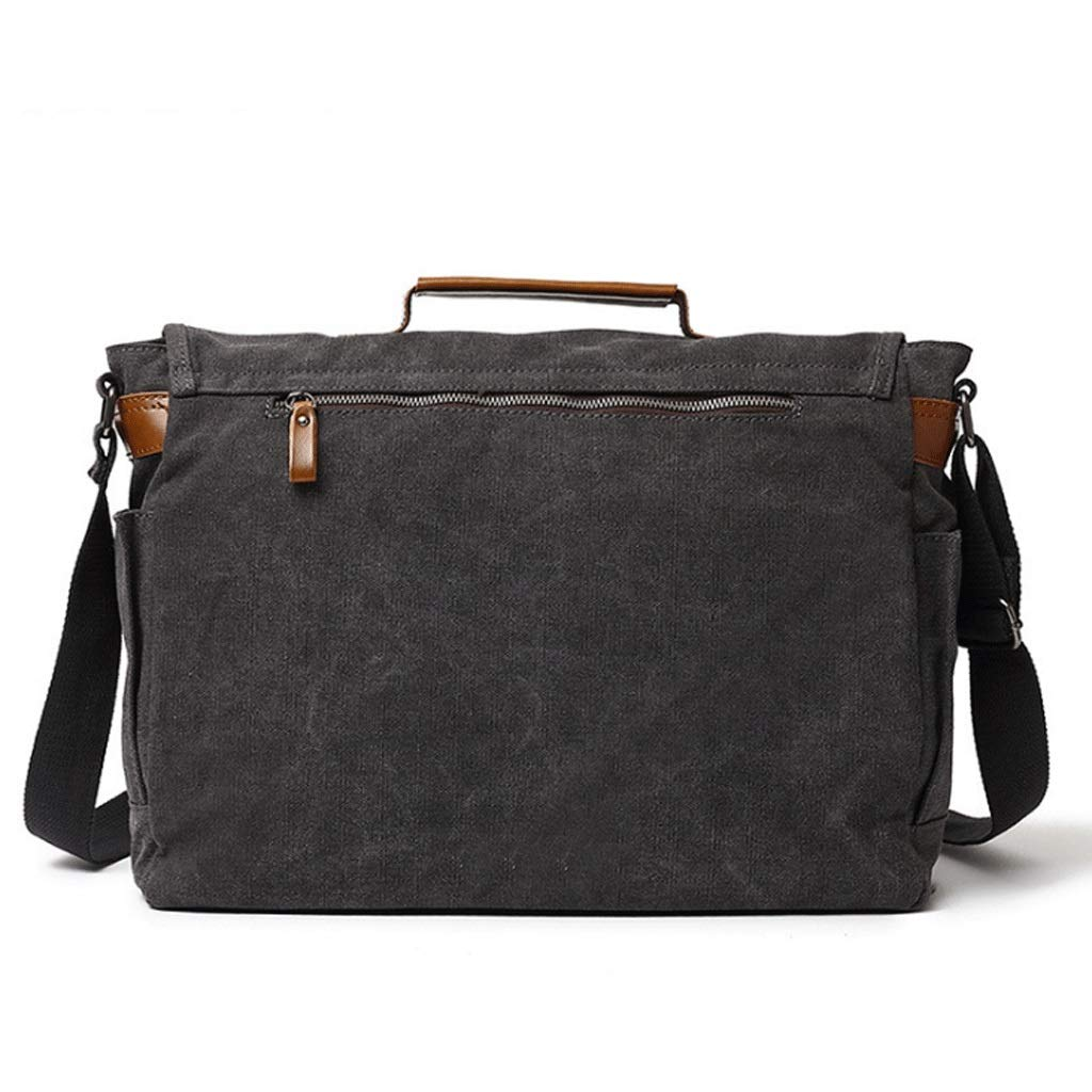 DONGLU Briefcase Large Capacity Canvas Vintage Computer Bag Color : 1, Size : S