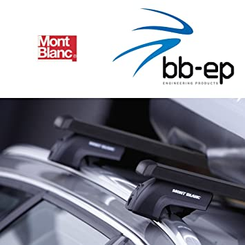 Mont Blanc Premium Acero Baca/Last portaequipajes para Seat Altea Free Track MPV con integrada
