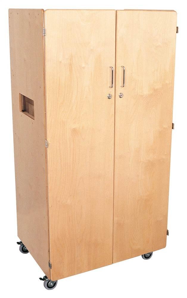 Mainstream Birch Teacher's Cabinet with locking casters