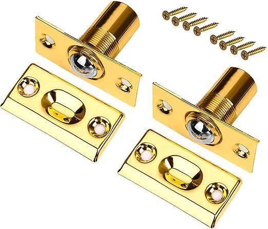 Door Cabinet 8//9.5//11//12.5//16.5mm Shaft Dia Brass Ball Catch Latch Catcher