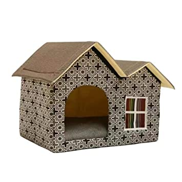 Ritapreaty Pet Nest - Caseta Antideslizante de Doble Parte Superior para Mascotas, caseta para Perro, Suave y Nido: Amazon.es: Hogar