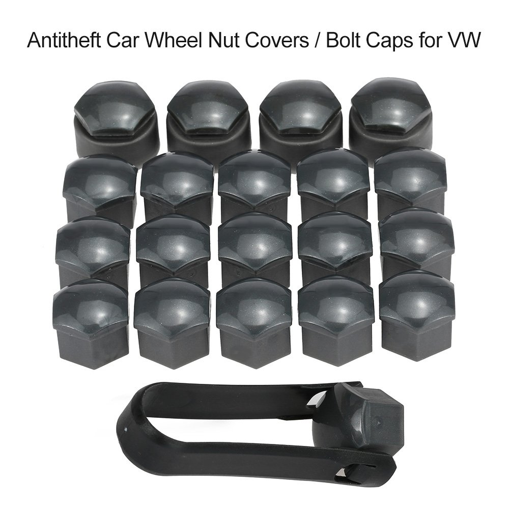 KKmoon 17mm Nut Caps and 17mm antitheft Nut Caps; Set of 16+4pcs Universal 17mm Car Wheel Nut Bolt Covers Locking Caps