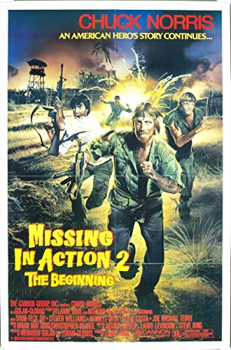 Missing In Action 2: The Beginning 1985 Original Cannon Releasing Movie Poster Chuck Norris