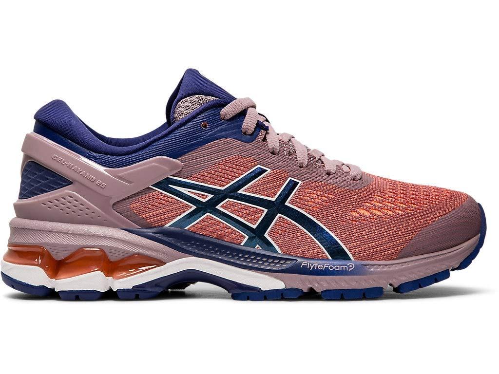 ASICS Women's Gel-Kayano 26 Running Shoes, 5.5M, Violet Blush/Dive Blue