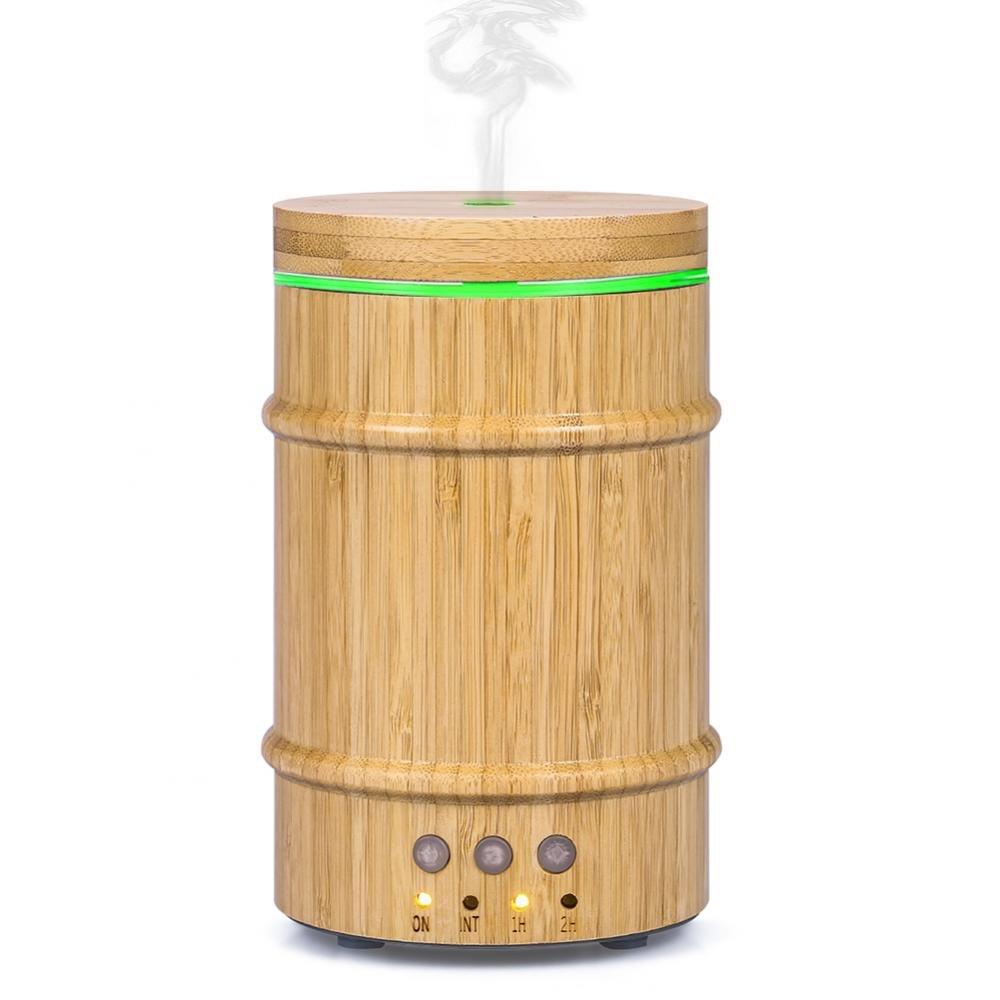 Diffusore di olio essenziale di bambù naturale 150ml Diffusore di aromi Diffusore d'aria umidificatore AC110-240V Wal front