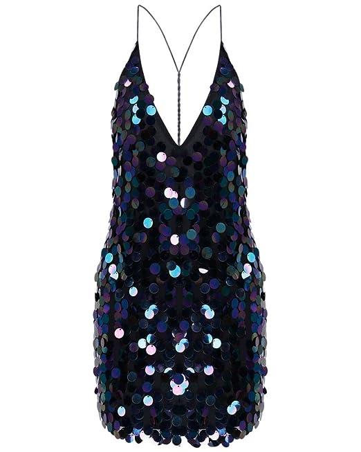 Vestidos De Noche Largo Corto Elegantes Carnaval Spaghetti Espalda Descubierta Vestido Sencillos Especial De Lentejuelas Vestido Coctel Mini Vestido Moda ...