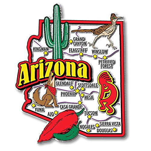 Arizona Magnet (Arizona State Jumbo Map Magnet)