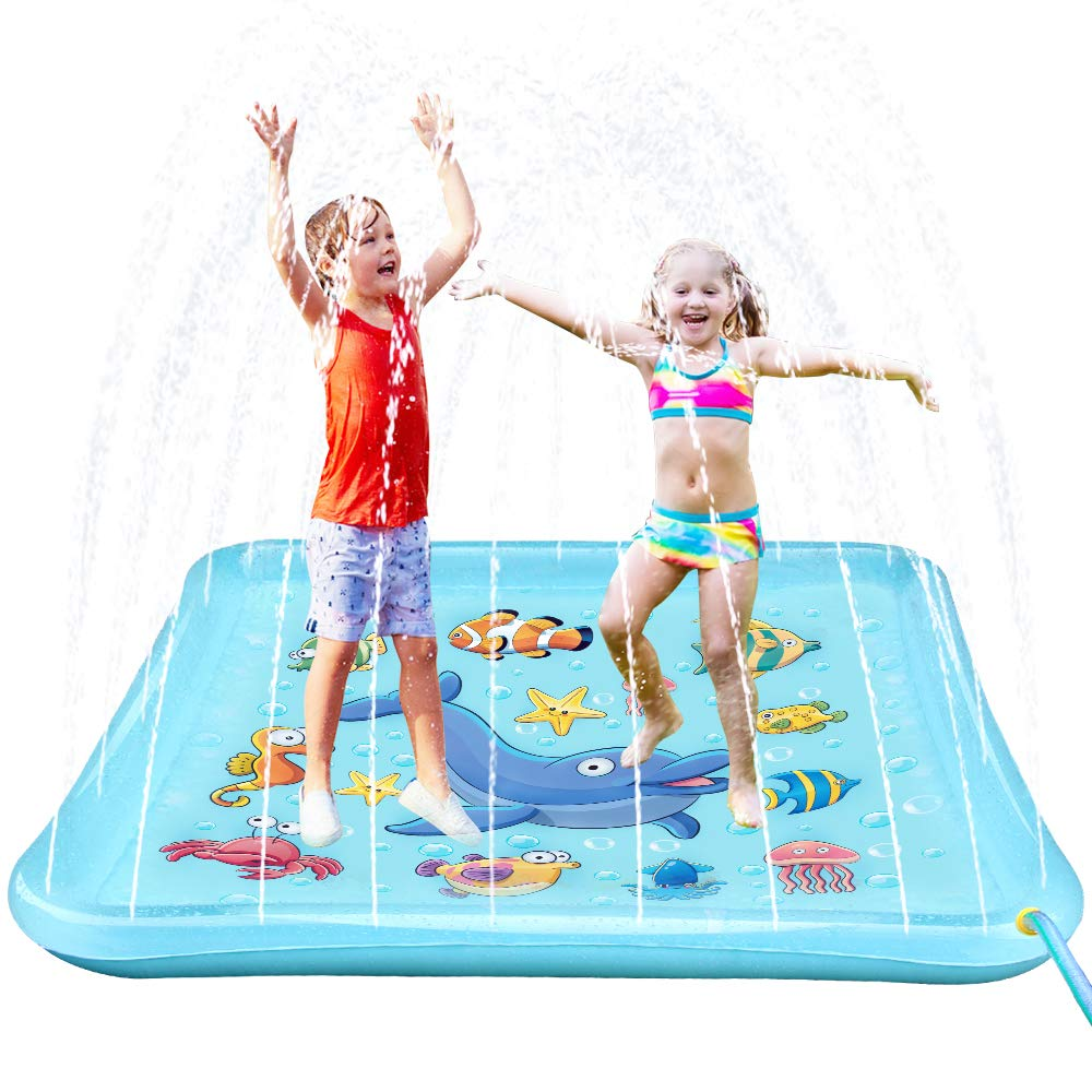 Epoch Air Sprinkler Pad & Splash Play Mat, 67'' Outdoor Water Toddler Toys Summer Fun Game, Perfect Inflatable Outdoor Toys Sprinkler for Kids Boys Girls