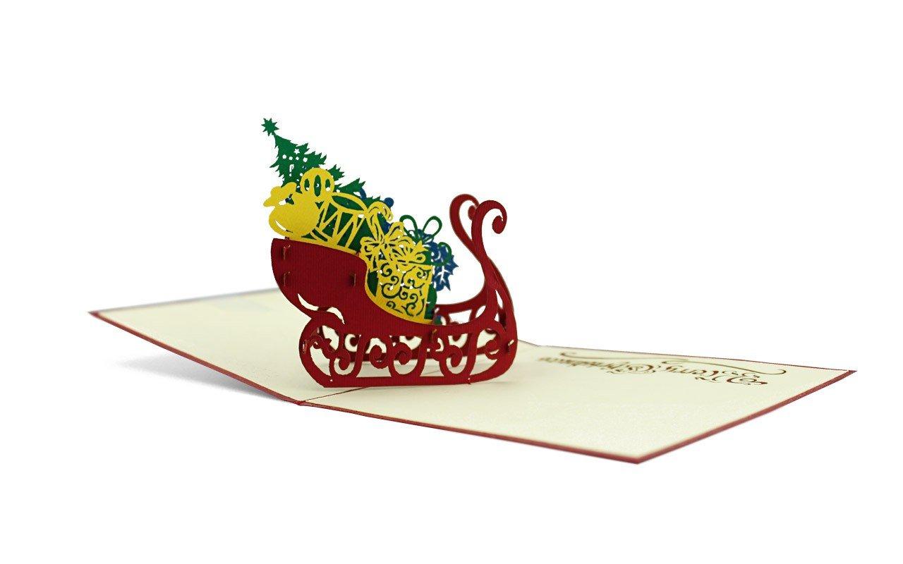 DIESE-KLAPPKARTEN® NATALE - Carta 3D POP-UP | Vari motivi | Taglio laser | Cartolina di Natale | Fatto a mano | Vigilia di Natale | Avvento, Diese-Klappkarten:W24 / Santa trifft Schneemann Diese Klappkarten