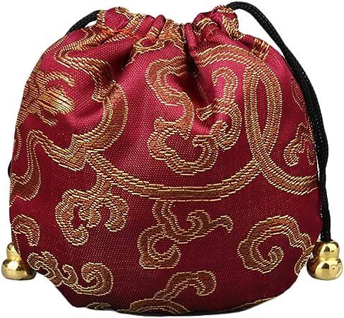Chakil Sac /à cordon Portable Petit kit Cadeau Pochette Sac Sac fourre-tout pour bijoux demballage 11cm*11cm