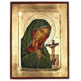 Virgin Mary of Sorrows Greek Painted Icon