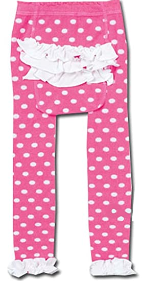 f1cf0a85e8ff1 Image Unavailable. Image not available for. Color: Country Kids Bubblegum  Ruffle Dot Rhumba Capri tights, Baby Girls ...