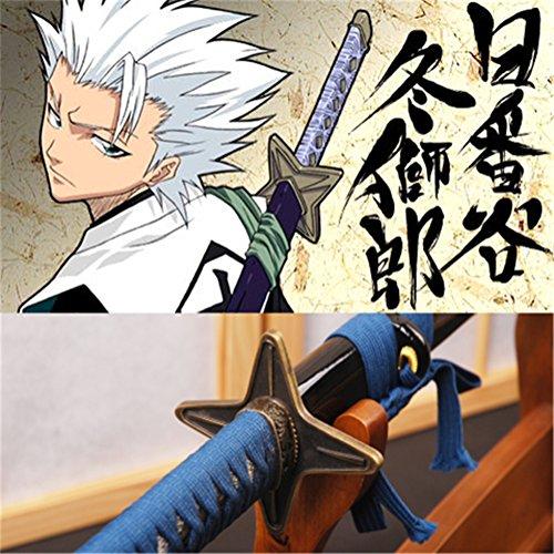 Bleach Sword Hitsugaya Toushelloro Samurai Katana Real Sharp Carbon Steel Blade