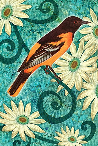 Oriole Garden (Toland Home Garden Baltimore Oriole 12.5 x 18 Inch Decorative Spring Flower Bird Branch Garden Flag)