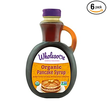 Amazon Com Wholesome Organic Pancake Syrup Non Gmo Gluten Free No Corn Syrup No Artificial Flavors 20 Oz Pack Of 6 Grocery Gourmet Food