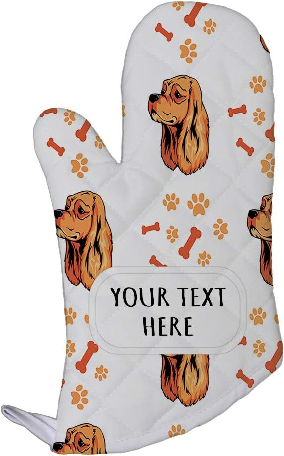 Style In Print Polyester Oven Mitt Custom American Cocker Spaniel Dog Pattern A Adults Kitchen Mittens