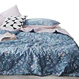 Luxury Flower Printed Summer Comforter Reversible Floral Quilt Coverlet 100% Cotton Girls Bedspread for Kids Adults Lightweight Soft Country Style Duvet Quilt All Seasons Blanket, 150x200cm