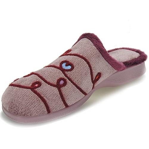 GARZÓN. Zapatilla Destalonada Chinela de Casa Cordón Corazones para Mujer - Modelo 2828.245: Amazon.es: Zapatos y complementos