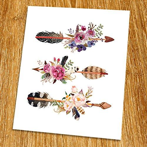 Arrow Print (Unframed), Entrance Wall Decor, Watercolor Arrow, Nursery Wall Art, Tribal Art, Living Room Wall Art, Boho Print, 8x10