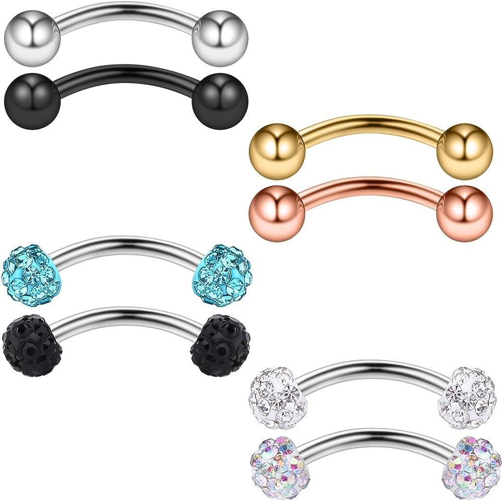 Ferido Gem Top Labret Monroe Lip Bar Ring Stud Barbell Body Piercing Jewellery