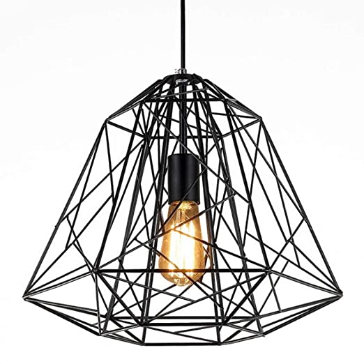 MAKKC E27 Pantalla de lámpara de jaula de alambre de metal ...