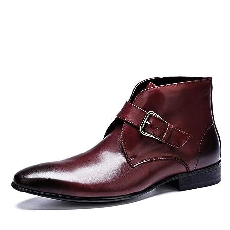 SXZHSM Zapatos de Vestir para Hombre, cálidos, de Piel, para ...