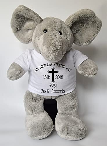 Personalised christening day name elephant teddy personalised personalised christening day name elephant teddy personalised easter gifts teddy baby gifts childrens gifts new baby negle