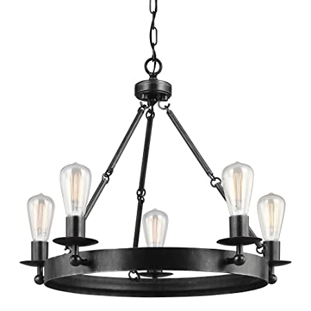 Sea Gull Lighting 3110205-846 Ravenwood Manor Five-Light Chandelier, Stardust Finish