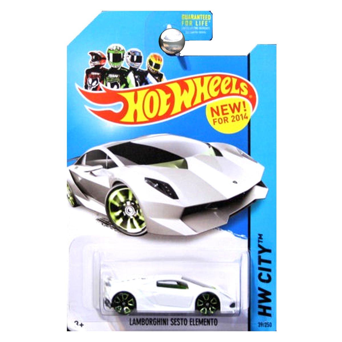 Amazon Com Hot Wheels Hw City Lamborghini Sesto Elemento White 39
