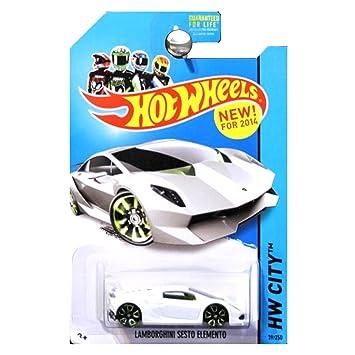 Hot Wheels Hw City Lamborghini Sesto Elemento White 39 250 Amazon
