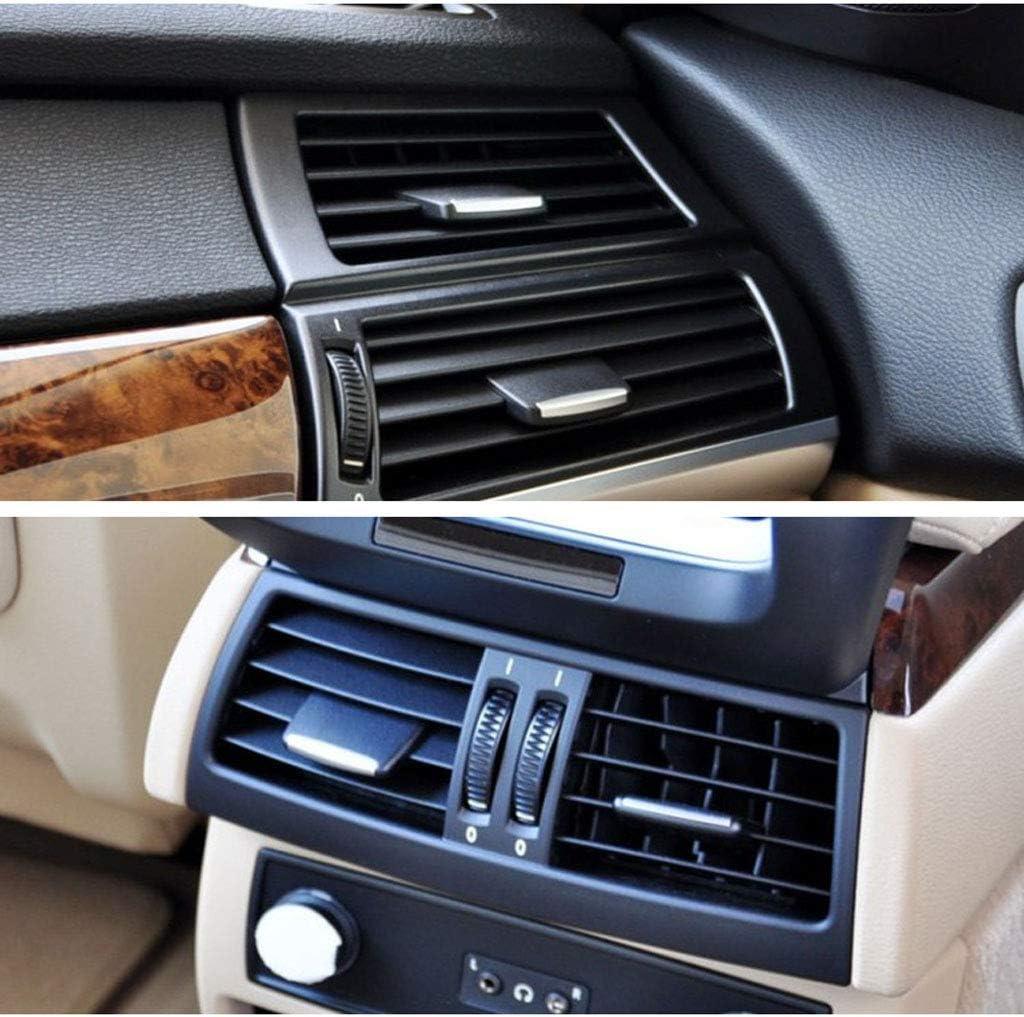 X6 Clip De Languette De Sortie De Ventilation Am/élior/é pour BMW X5 E70 2006-2012, pour BMW X6 E71 Shiwaki 2X Languettes De Ventilation Arri/ère pour BMW X5