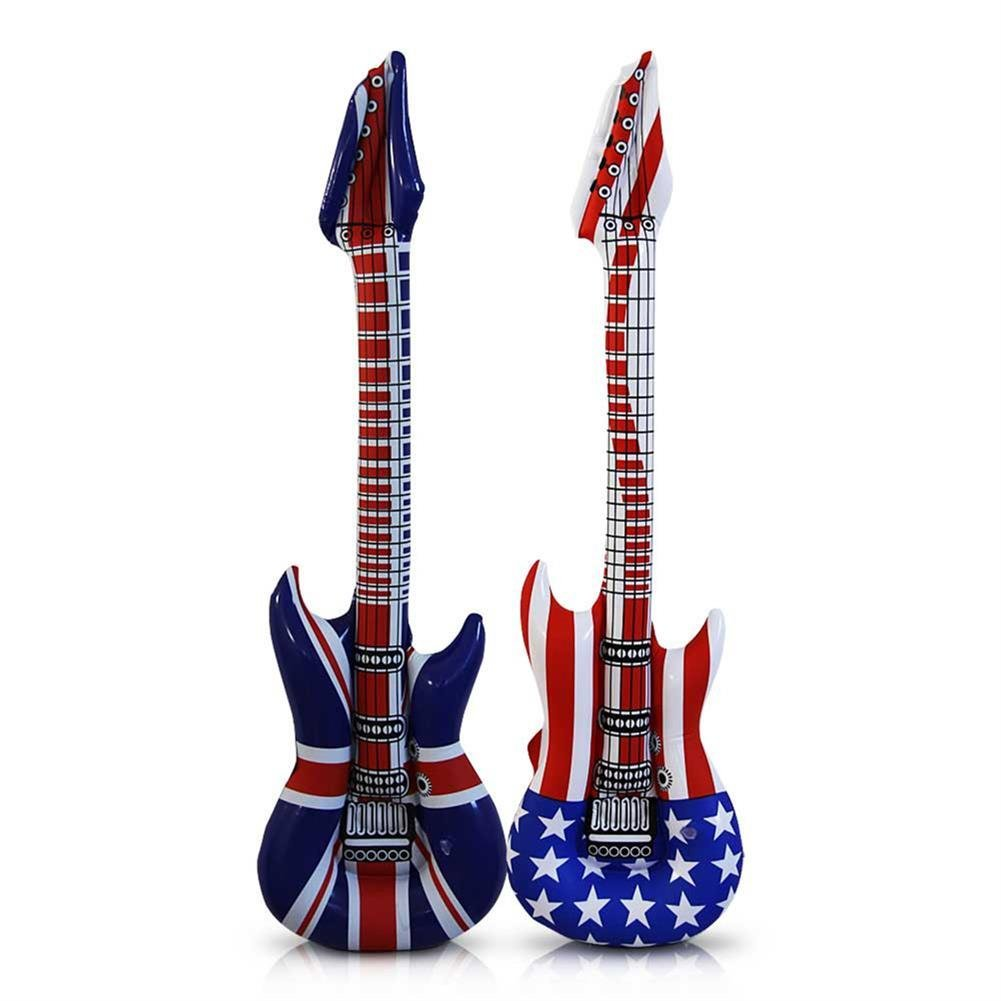 24 x Guitarra hinchable (Estados Unidos England Rock: Amazon ...
