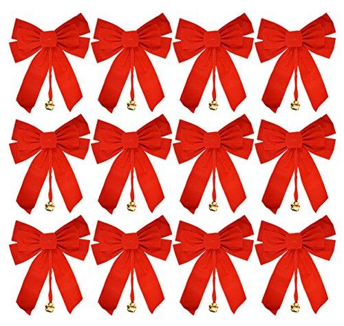 Velvet Christmas Bows 10