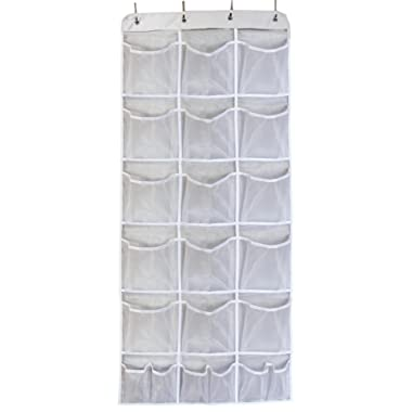 Misslo Mesh Waterproof Hanging Over the Door Organizer For Accessories Storage (15 Extra Large and 6 Small Pockets)