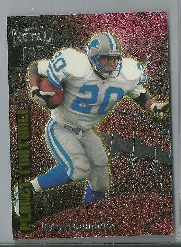 1998 Fleer Metal Football Barry Sanders Planet Football Insert card