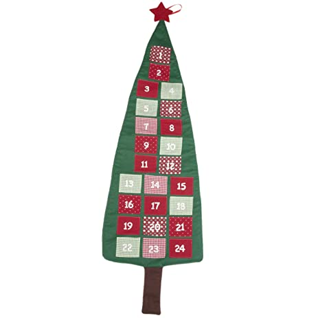 tall christmas tree fabric wall hanging advent calendar - Tall Christmas Tree