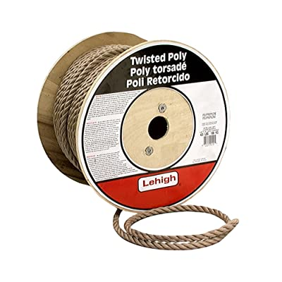 Lehigh FPB582 5/8-Inch by 200-Feet Polypropylene Twisted Rope, Brown