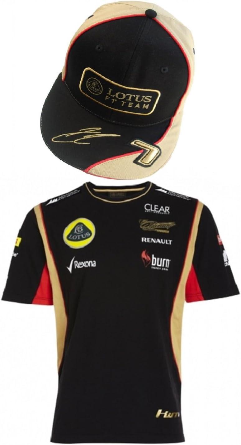 Camiseta de Fórmula uno de Raikkonen Lotus F1 Team Burn 1 y gorra ...