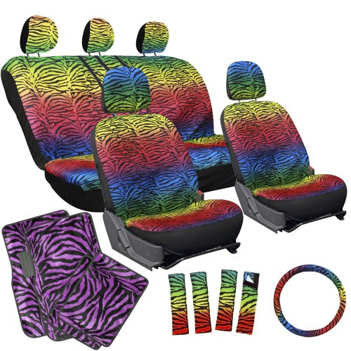 purple and zebra seat covers - 3