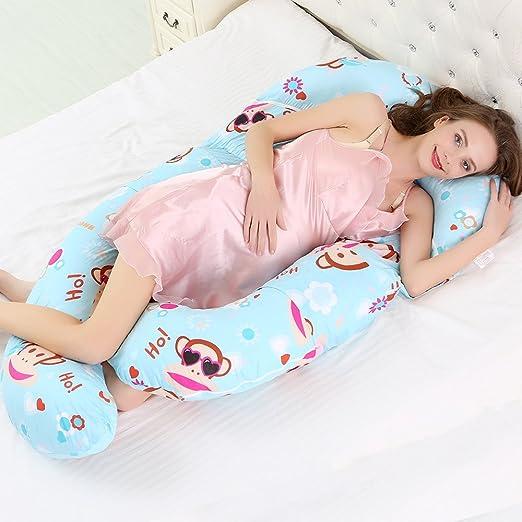 SZYND Mujeres Embarazadas Almohada Cintura Lado para Dormir ...