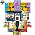 Vegan Healthy Snacks, Mixed Premium Set of Snacks Includes Nuts, Snack Bars, Chickpeas and Dried Snacks (20 Count)