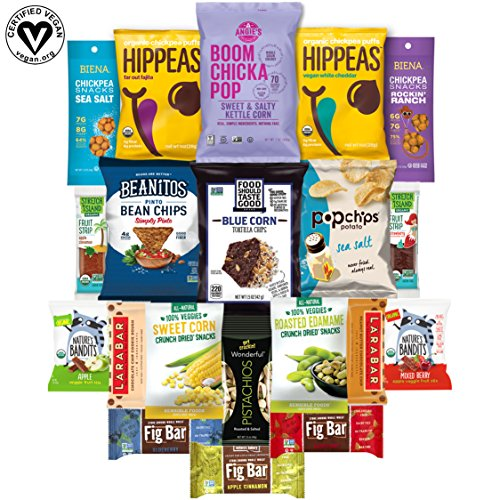 Vegan Healthy Snacks, Mixed Premium Set of Snacks Includes Nuts, Snack Bars, Chickpeas and Dried Snacks (20 Count) Review