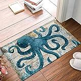 Watercolor Sea Octopus kraken Door Mat Indoor Outdoor Non-slip Rubber Entrance Mats Rugs for Bathroom/Front Doormat(Ocean Animal)