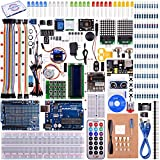 Kuman Upgrade RFID Master Starter Kit for Arduino with Tutorials, UNO R3, RC522, LCD1602, Breadboard and Sensors Modules Motor Servo Jumper Wire (Arduino Kit)