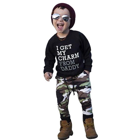 Ropa bebé, Camisetas de bebé niño Bebé Infantil + Pantalones ...