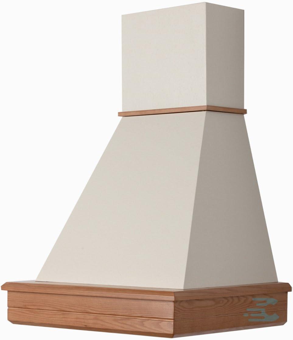 Campana Cocina Rústica madera Mod.Stock 60 de pared, Cono Crema, motor B52 Frassino Naturale: Amazon.es: Hogar