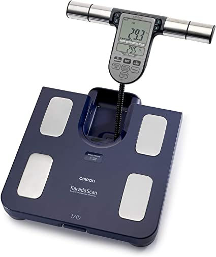 OMRON BF 511 Composition scale body Meter Fat Memory Family Blue