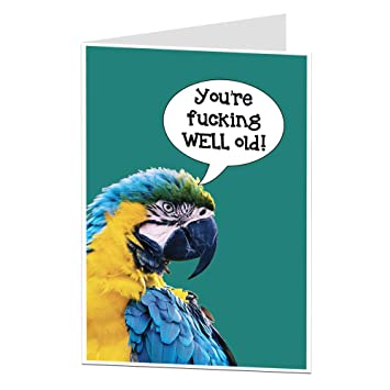 Funny Offensive Happy Birthday Card Old Age Joke For Men Women